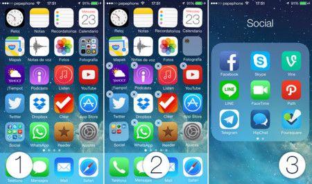 ¿Cuántas aplicaciones y carpetas puede tener un iPhone?
