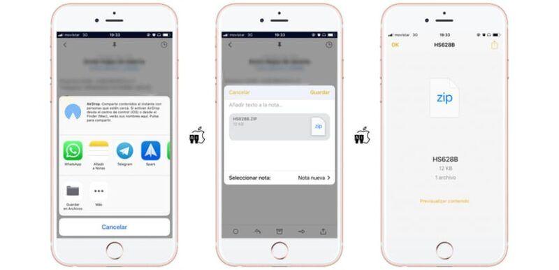 Cómo abrir archivos Zip en el iPad o el iPhone