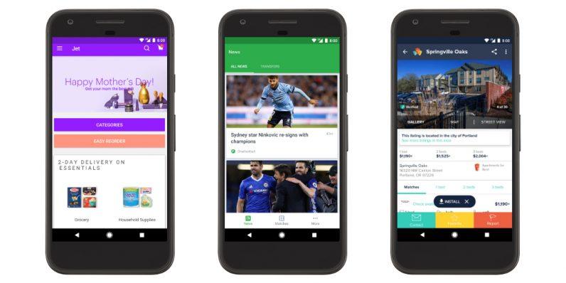 Aplicaciones instantáneas de Google