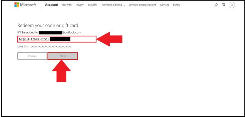 Cómo canjear una tarjeta regalo de Xbox