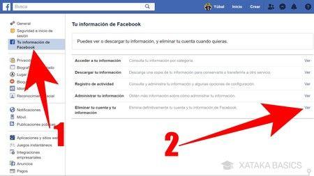 Cerrar permanentemente tu cuenta de Facebook
