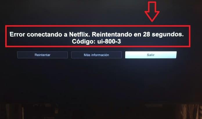 Código de error UI-800-3 de Netflix