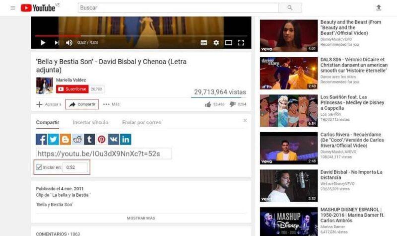 Cómo compartir un enlace a un momento específico en un vídeo de YouTube