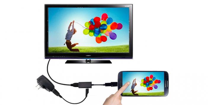 Cómo conectar el teléfono al televisor con USB