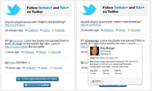 Cómo crear un widget de Twitter