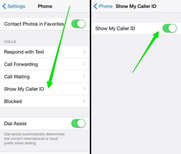 Cómo desactivar el identificador de llamadas en el iPhone