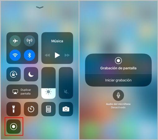 Cómo grabar la pantalla del iPhone
