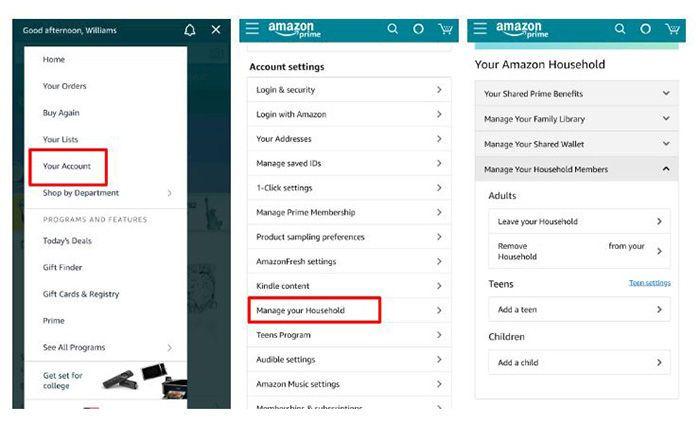 Compartir Amazon Prime y Prime Video