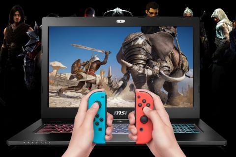 Conectar la Nintendo Switch a  computadora portátil