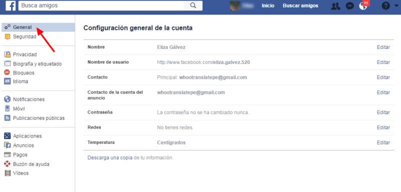 Cómo configurar Facebook