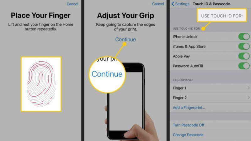 Configurar y utilizar Touch ID, el escáner de huellas dactilares del iPhone