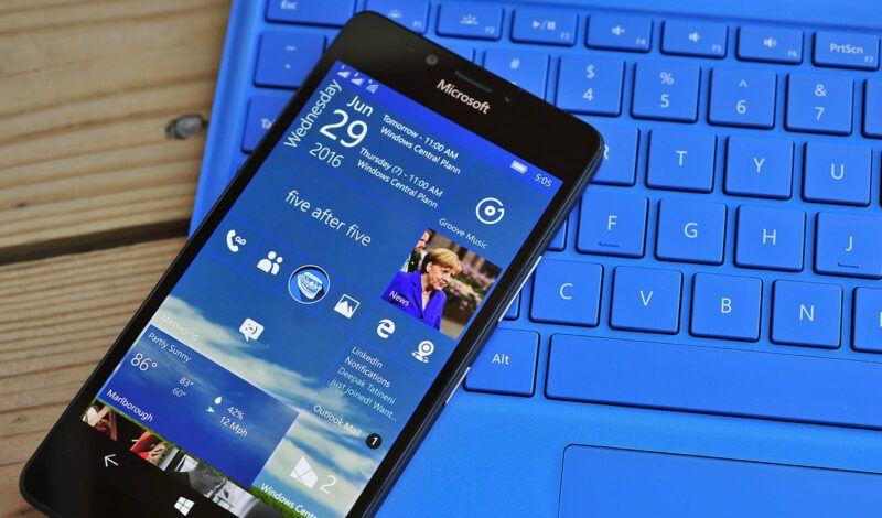 Dispositivos móviles con Windows 10