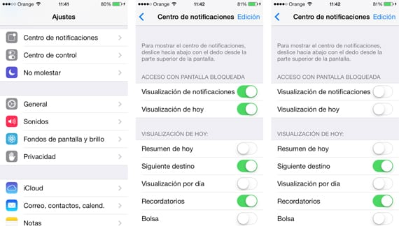 Eliminar el correo en iOS Email directamente desde el centro de notificaciones