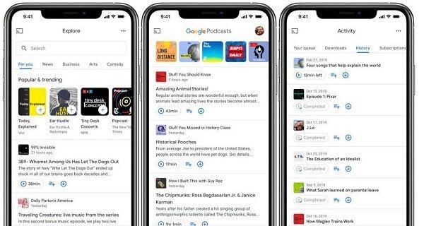 Escuchar los podcasts de iTunes en Android
