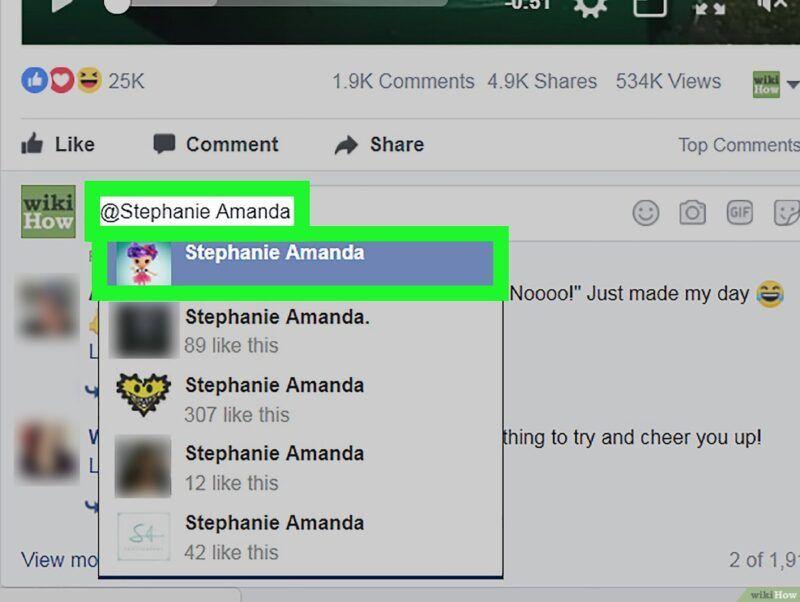 Etiquetar amigos en publicaciones de Facebook