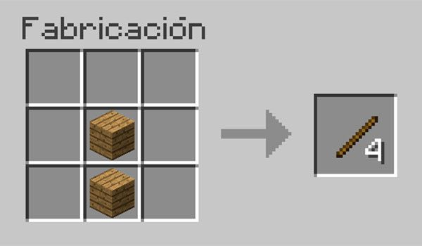 Hacer palos en Minecraft