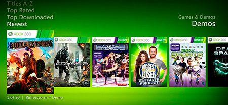La demo del juego de Xbox 360