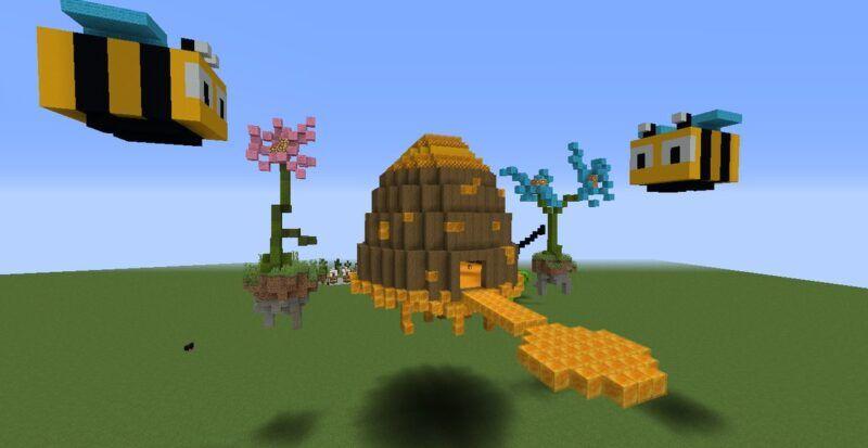 Cómo obtener la miel de una colmena en Minecraft