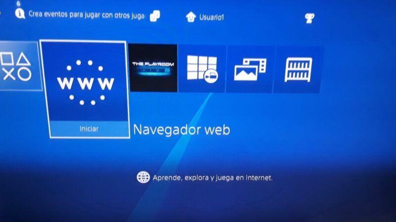 Cómo usar el navegador web de PS4