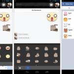 Pegatinas de Facebook en los mensajes y el chat