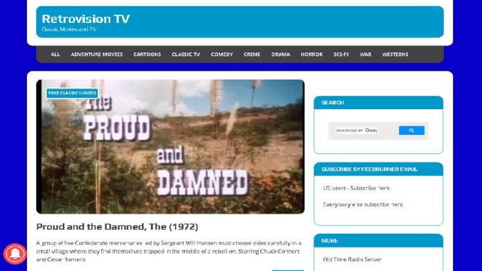 Películas de transmisión gratuita de Retrovision