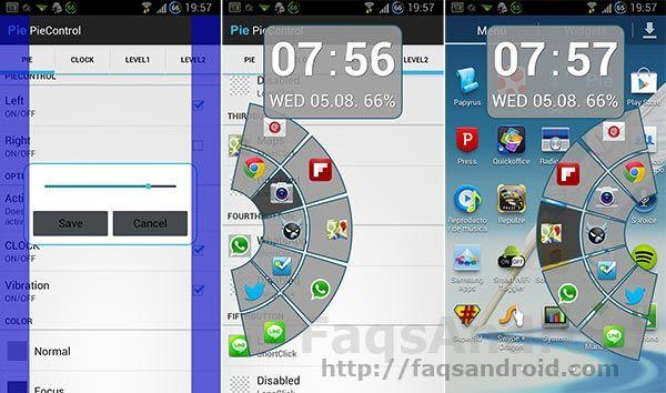 Pie Control en tu Android