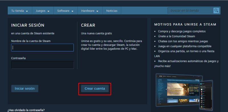 Registro en Steam: Cómo funciona