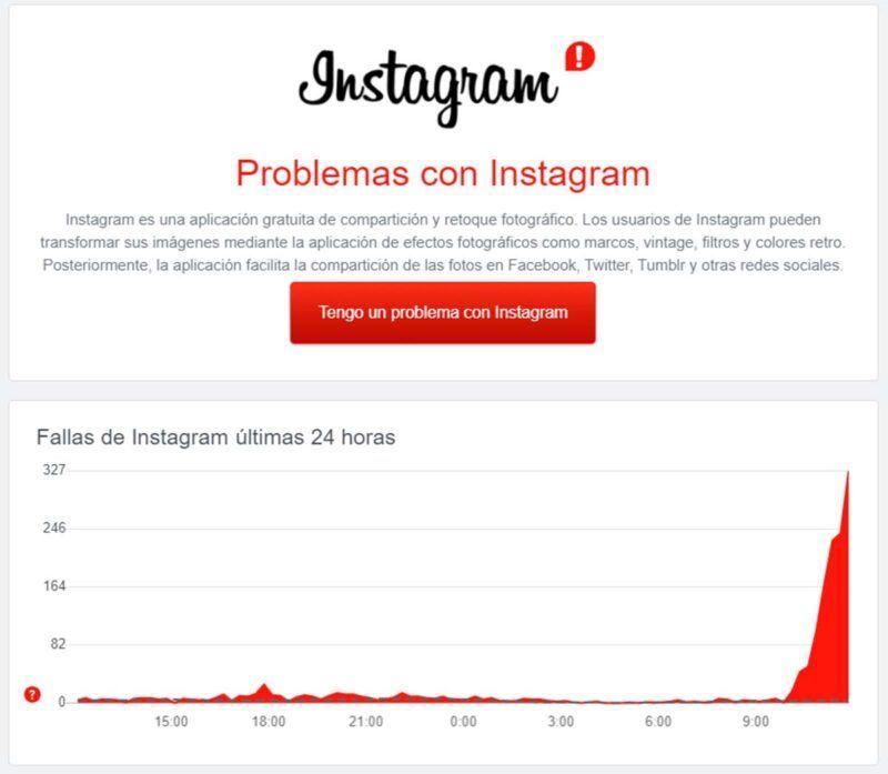 ¿Se ha caído Instagram?