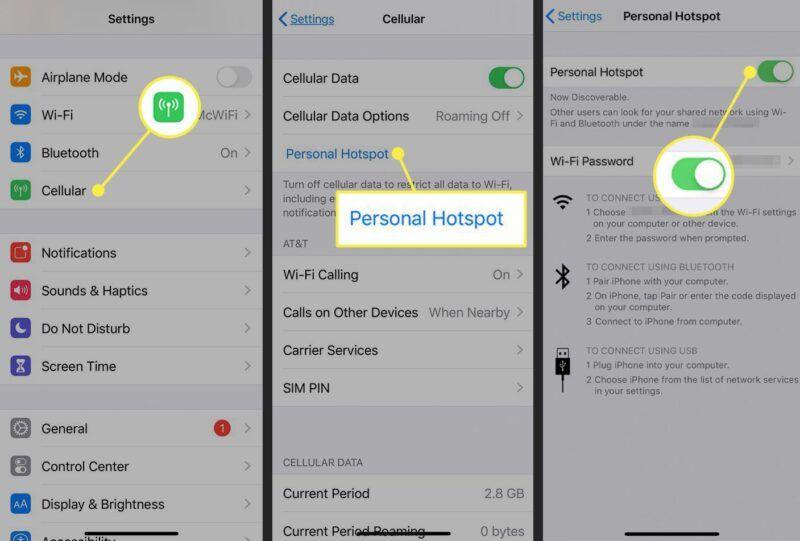 Todo sobre el tethering y el hotspot personal del iPhone