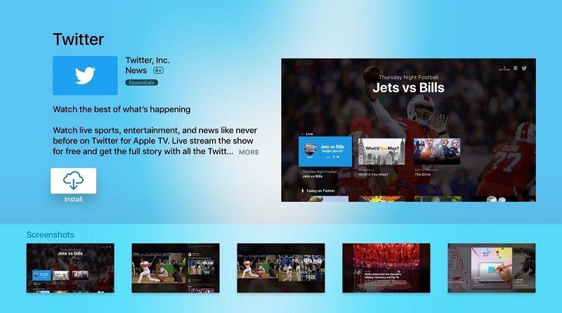 Twitter en el Apple TV
