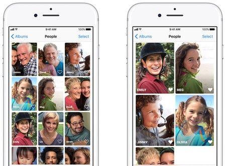 Utilizar los álbumes de fotos del iPhone