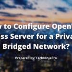 ¿Cómo configurar el servidor de acceso OpenVPN para una red privada puenteada?