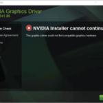 """¿Cómo solucionar el """"instalador de Nvidia no puede continuar""""?"""